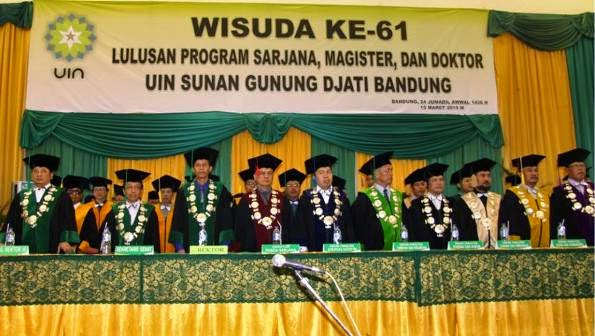 990 Sarjana Baru UIN SGD Bandung Diwisuda Pgs Rektor