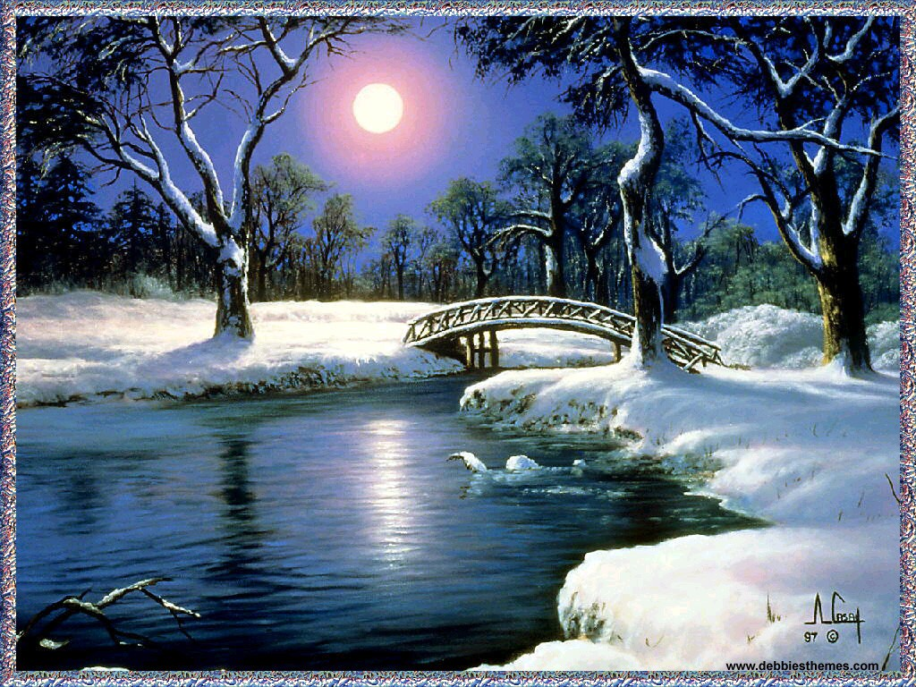 Winter Wallpaper And Backgrounds moon wallpapers night wallpapers winter wallpapers jpg