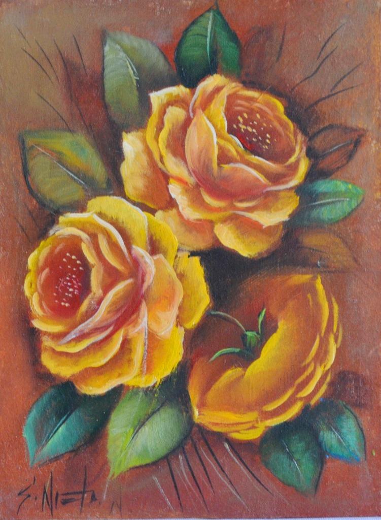 Cuadros pinturas oleos cuadros decorativos con flores for Cuadros de oleo modernos