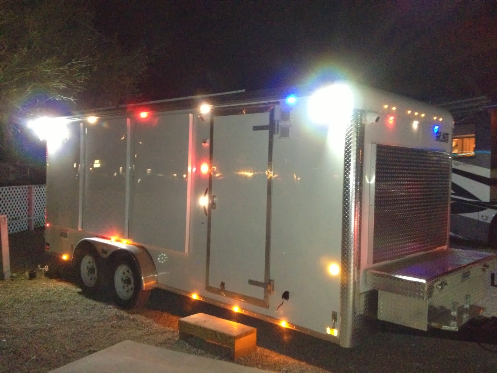 2013 Carmate 100 Solar Heated And Cooled Over The Top Cargo Trailer Pictures From Az Rv Show