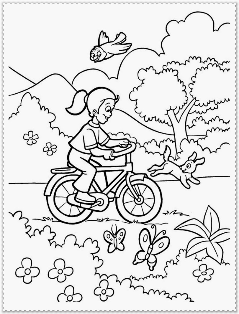 spring activities coloring pages