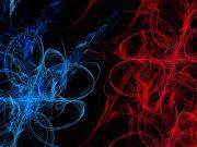 Imagens de Fundo: Abstrato em azul e vermelho com fundo preto (abstrato em azul vermelho com fundo preto wallpaper pc computador tela gratis ambiente de trabalho)