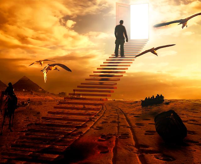 Escada de Jacó, ascensão, elevação espiritual piramides egito