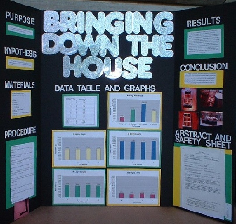 Poster board display for science fair