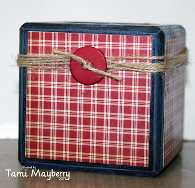 Sizzix Upcycled Americana Candle Holder Tutorial by Tami Mayberry
