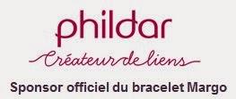 PHILDAR qui fut sponsor & fournisseur pour la réalisation des bracelets Margo