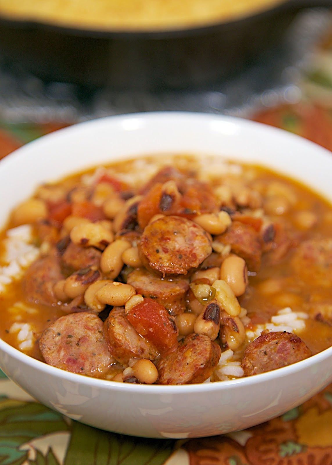 Lucky Black-Eyed Pea Soup With Chicken-Garlic Sausage And Bell Peppers ...