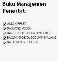 Buku Manajemen Penerbit Andi Offset, Baduose, UMM Press, UMM Malang, FKUI Online Murah