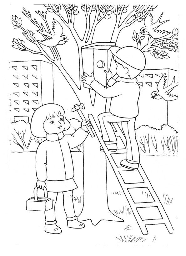 Детские картинки раскраски о весне