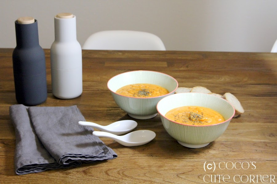 Sweet Patatoe Soup with dried Apricots