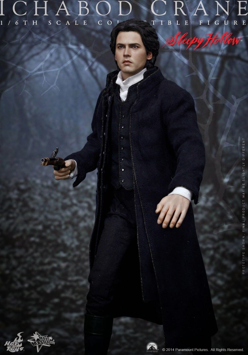 "Hot Toys - MMS - Sleepy Hollow - 1/6 Scale - 12"" Johnny Depp Ichabod Crane figure"