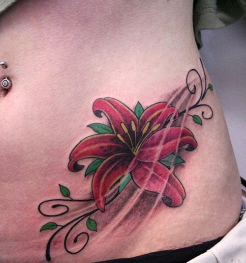 Girls Flower Tattoo Desingns