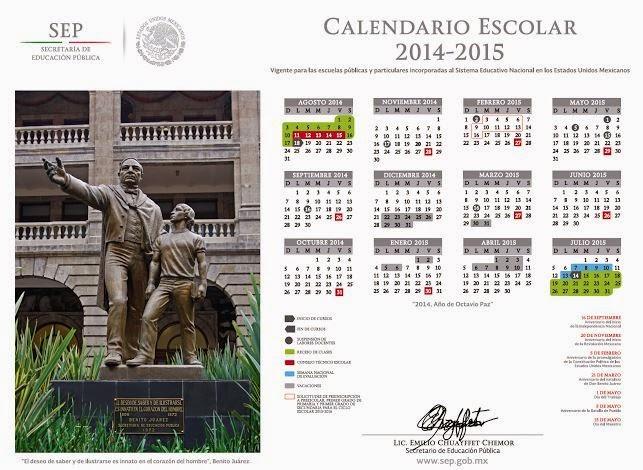 Calendario Escolar 14 -15