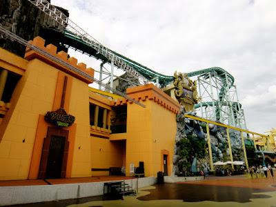 Green roller coaster at E-da Theme Park Kaohsiung