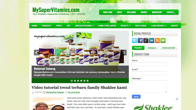 vitamin shaklee di shah alam