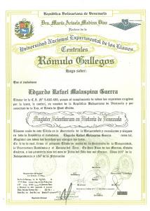 MAESTRÍA EN HISTORIA DE VENEZUELA