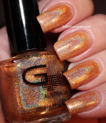 Glitter Gal Citrine holographic nail polish