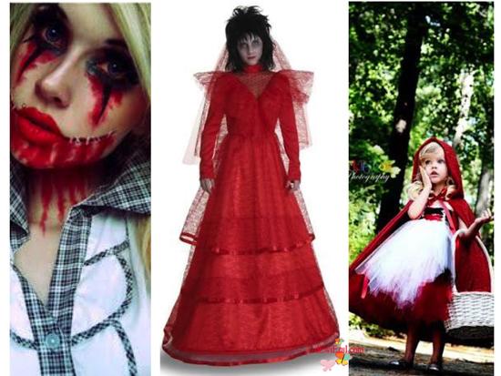 de-idea Makeup untuk Halloween Red costume dan Red makeup serta tema Ballerina for Halloween