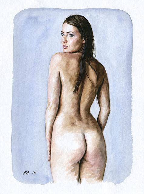 René Bui - Etude de nu à l'aquarelle #150159 - 2015