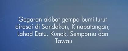 Gempa Bumi Di Laut Sulu 25 Feb 2015