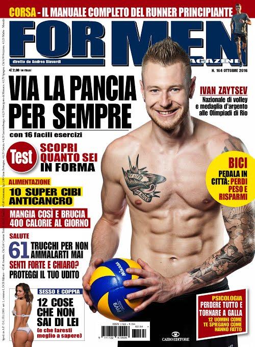 shirtless people  pallavolista ivan zaytsev a torso nudo su for men magazine
