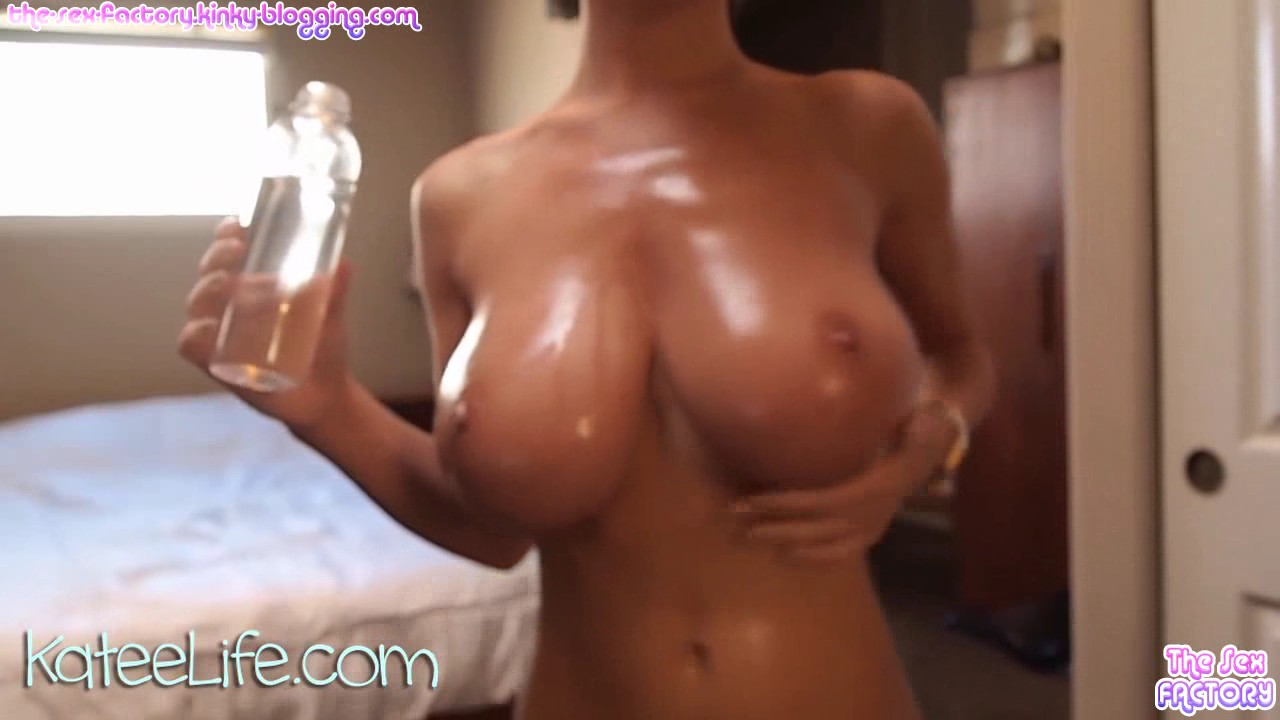 Busty model masturbating