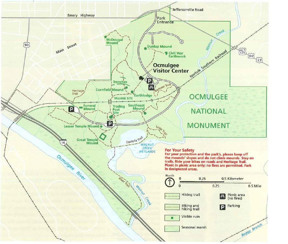 park map via nps
