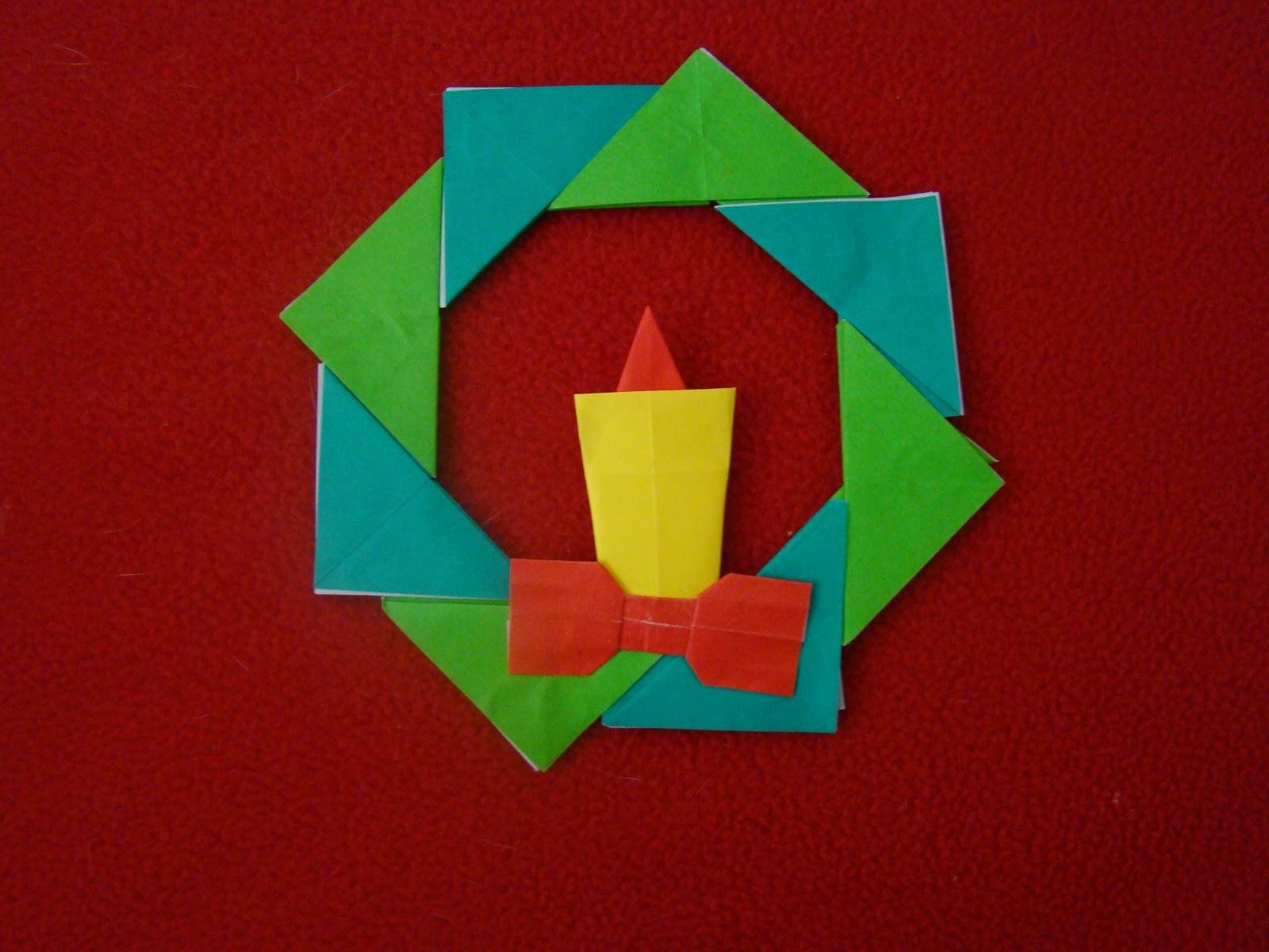 Decorating Ideas > Origami Maniacs Origami Christmas Wreath ~ 171802_Christmas Decorations Ideas Ks1