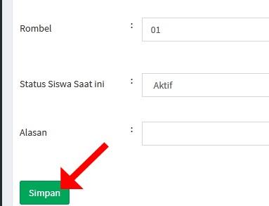 Edit data yang diperlukan kemudian klik simpan jika sudah selesai