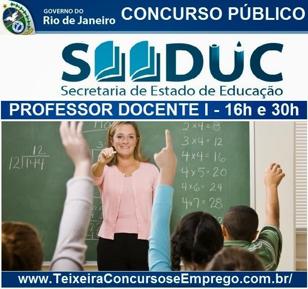Apostila Concurso SEEDUC RJ para Professor Docentes I do Estado do Rio de Janeiro