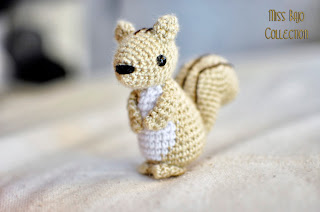 Amigurumi squirrel