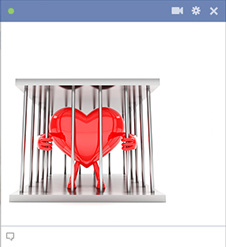 Facebook heart in prison