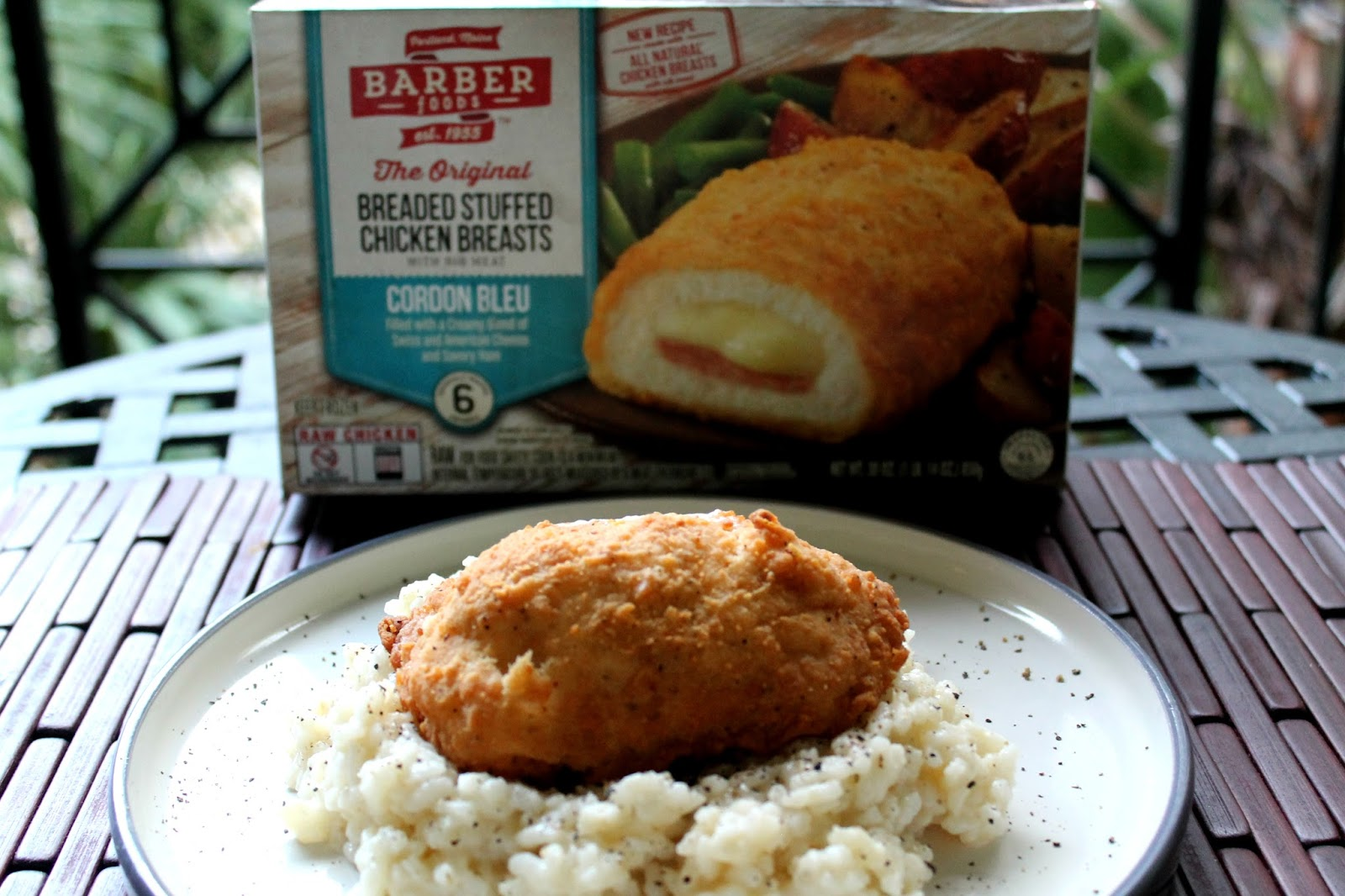 Run For Wine: New Barber Foods Chicken Cordon Bleu with easy creamy ...