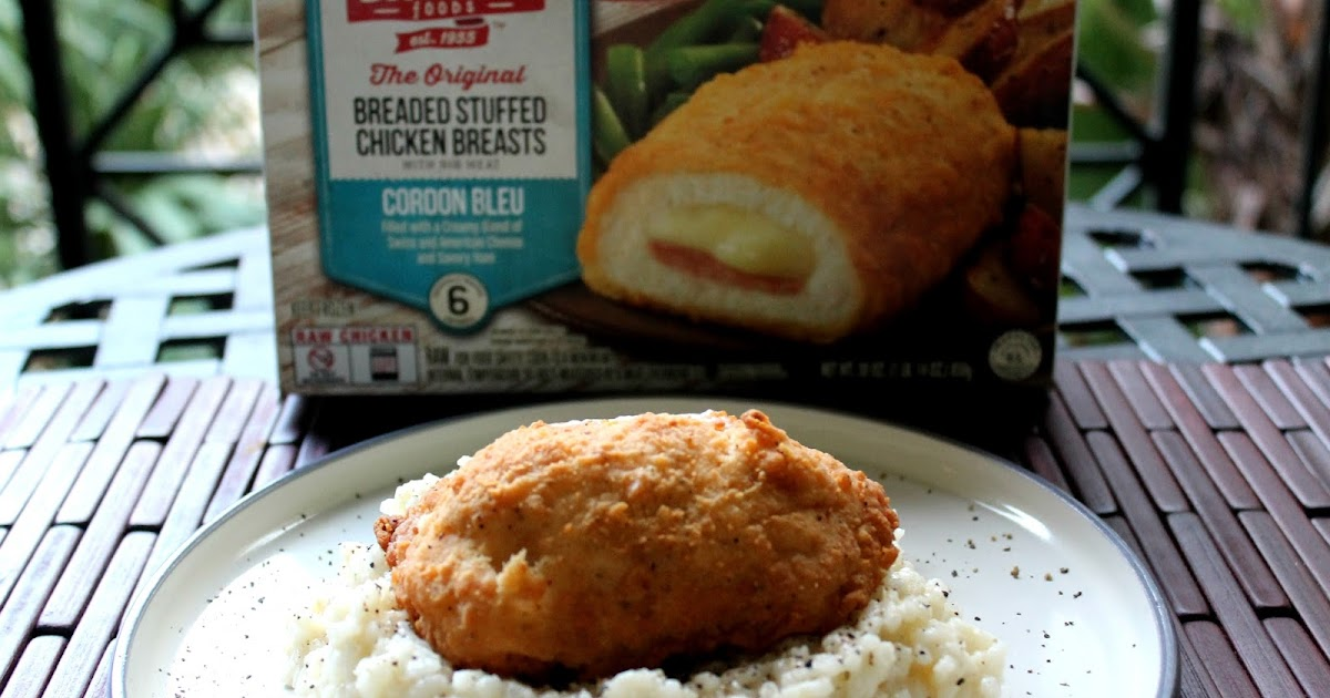 New Barber Foods Chicken Cordon Bleu With Easy Creamy Risotto