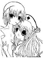 Gambar Kamichama Karin Dan kazune Untuk Mewarnai