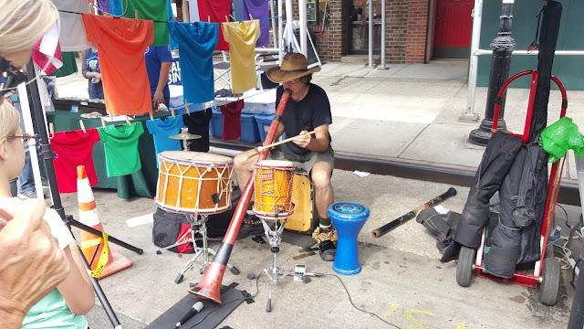 Didgeridoo Player at the Atlantic Antic Festival
