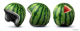 capacete cabeça de melancia