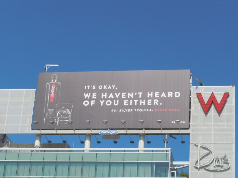 901 Silver Tequila billboard