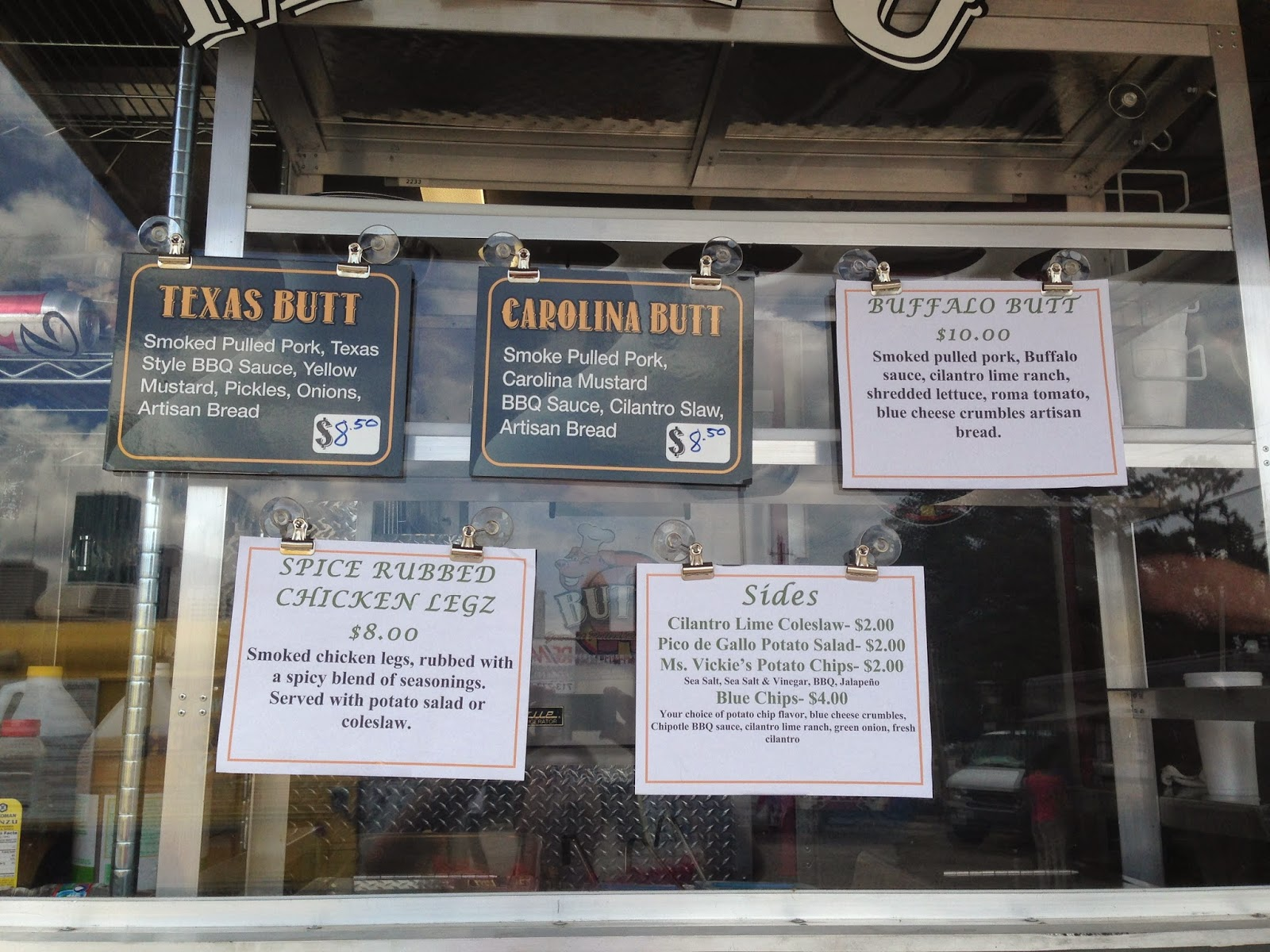 Buttz Food Truck Menu