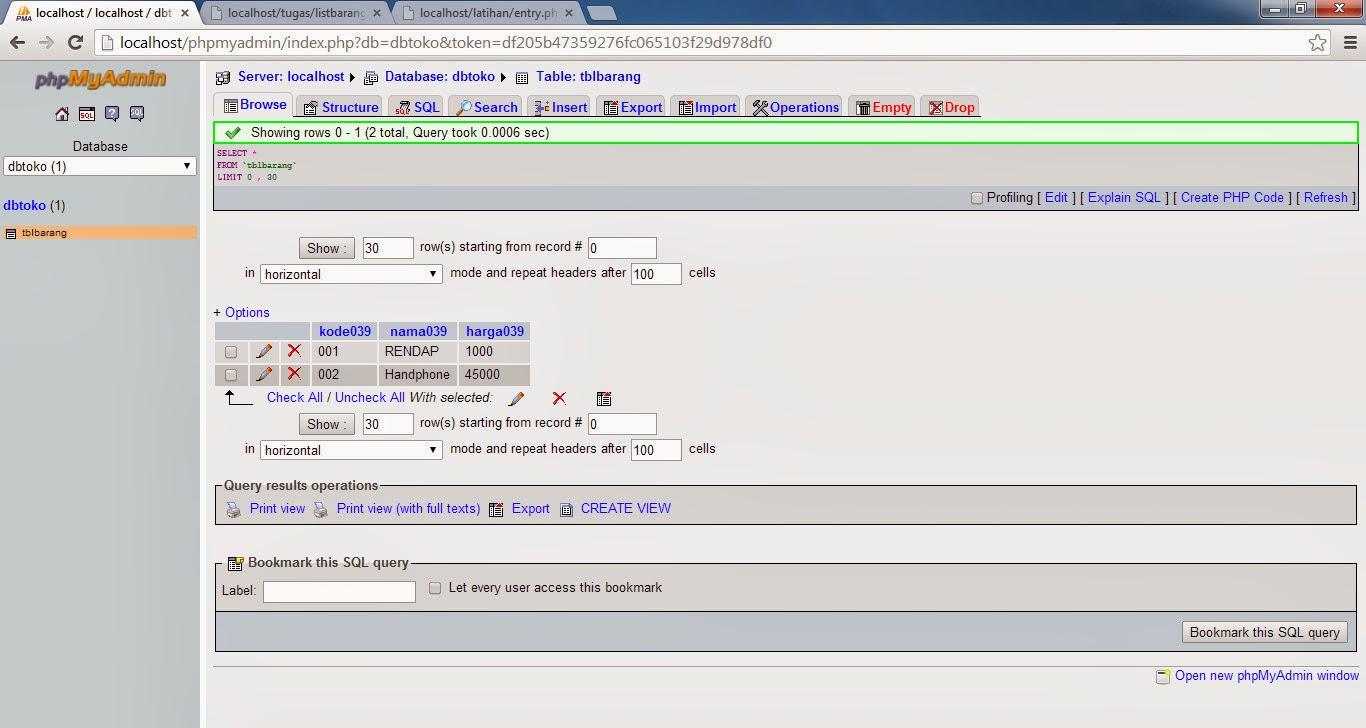 Cara Membuat Program Input Data Barang Menggunakan PHP