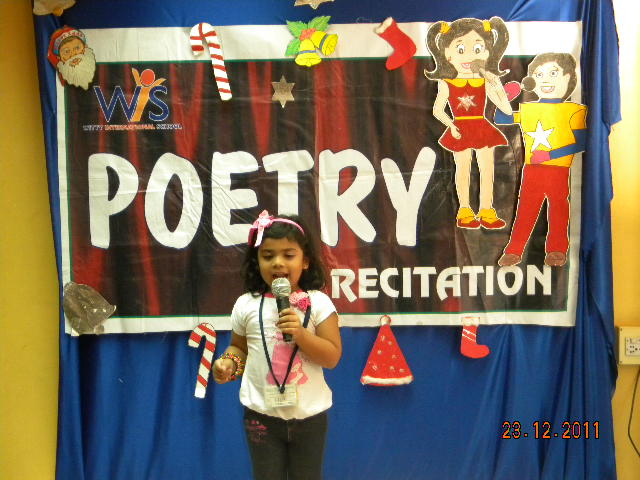 On the top of the World...: Poetry Recitation Competition for Jr.Kg.