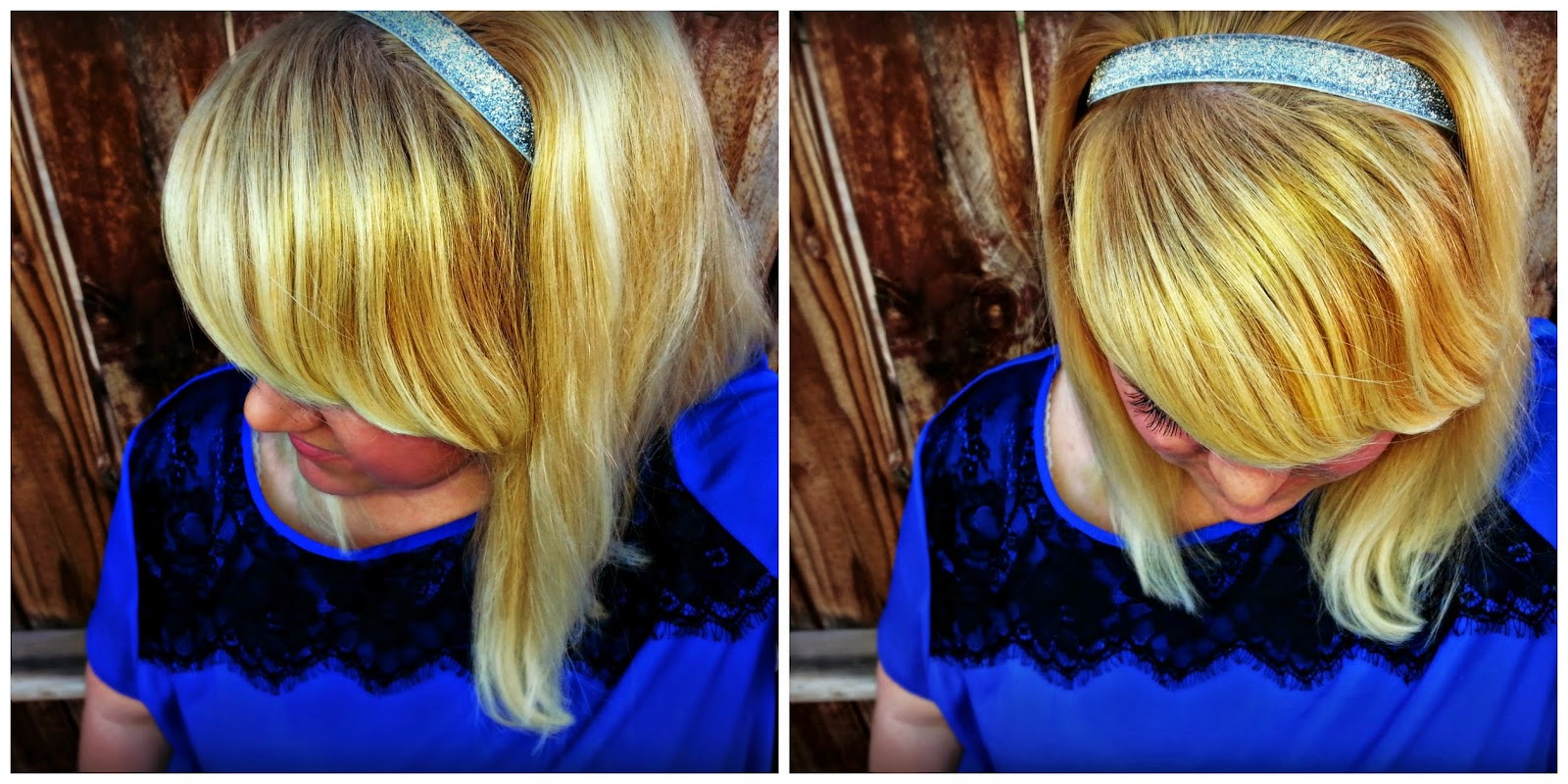 DIY Glitter Elastic Headband Tutorial Video on Blissful and Domestic -- This is a simple 5 minute project to take your hair from drab to fab!
