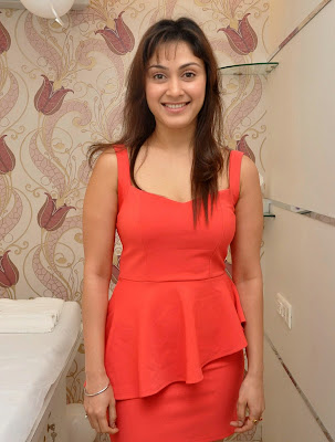 Manjari+(20) Manjari Phadnis Super Hot Photos in Red Dress At The Launch Of Naturals Family Salon & Spa