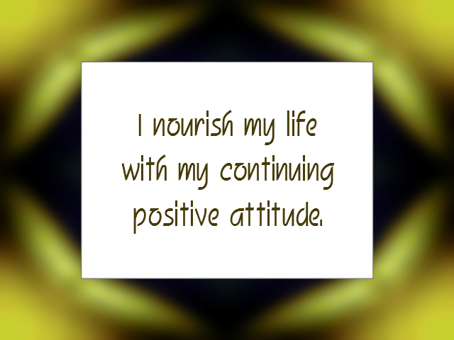 ATTITUDE affirmation