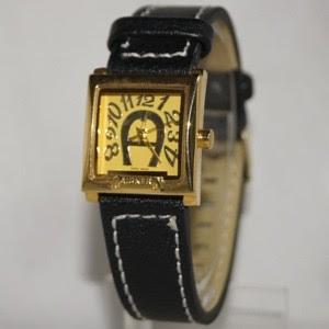 jam tangan aigner kulit bulat