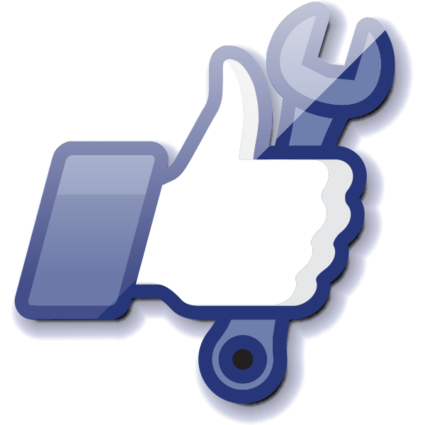 Wrench icon for Facebook
