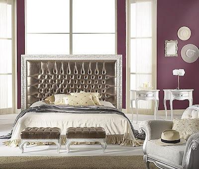 habitación púrpura plata