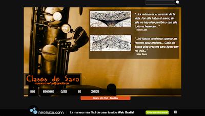 Clases de saxo! Web sobre clases para aprender saxofón. En la página podes encontrar detalles referidos a la dinámica de las clases.