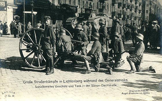 Pasukan Freikorps pada Pertempuran di f Lichtenberg (Maret 1919)