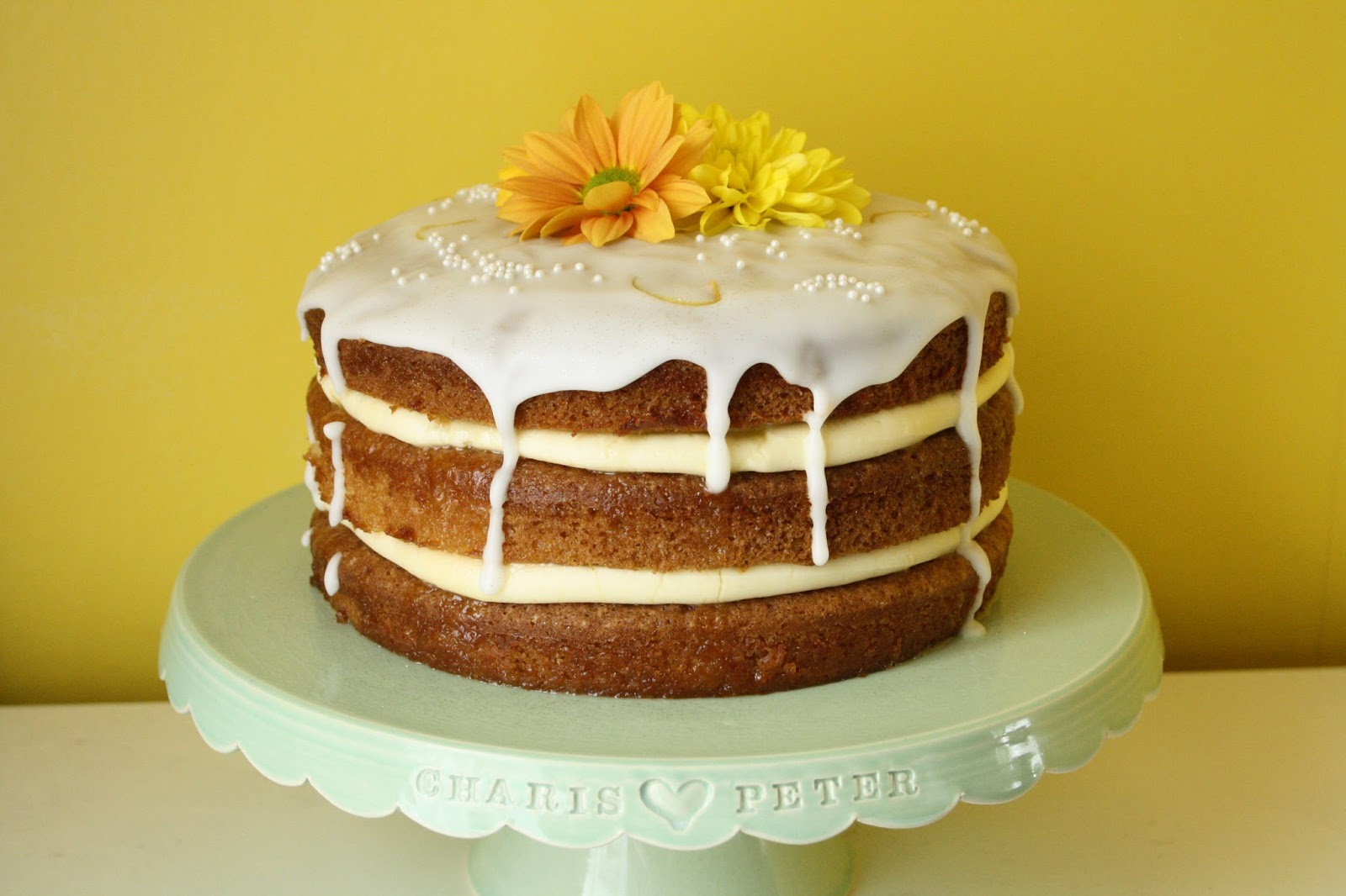 Floral Frosting Lemon Elderflower Layer Cake